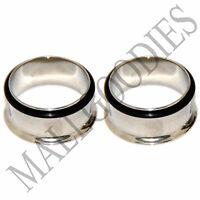 "0026 Steel Single Flare Flesh Tunnels Earlets Big Gauges 3/4"" Plugs 22mm PAIR"