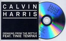 CALVIN HARRIS ft TINIE TEMPAH Drinking From The Bottle UK 3-trk promo test CD