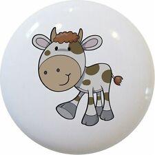 Spotted COW CABINET Dresser DRAWER Pull KNOB Ceramic