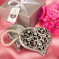 100 Heart Shaped Trinket Box Wedding Favor OR Sweet Sixteen Bulk Lot