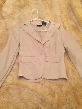 Nicole Miller Blazer Beige Cream Jacket Coat Career Wear Suit Blazer Size 4