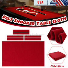 US 9ft Professional Pool Table Cloth Felt + 6 Felt Strips Soft Snooker Billiards