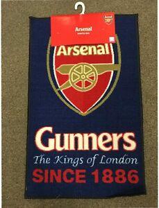 Arsenal OFFICIAL Football Club Rugs Floor Mats Soccer Carpet Bedroom Footy Mat