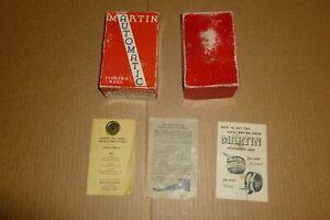 MARTIN REEL COMPANY MOHAWK NEW YORK AUTOMATIC FISHING REEL EMPTY BOX & PAPERWORK