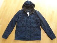 NEXT mens navy blue fleece lined autumn parka jacket coat LARGE BNWT NEW £ 65