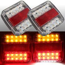 12V LED CARAVAN TRUCK TRAILER STOP REAR TAIL LICENSE PLATE LIGHTS INDICATOR LAMP