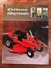 Vintage Gilson Brothers Co. Deck Lawn Tractors Riding Mower Brochure 1972