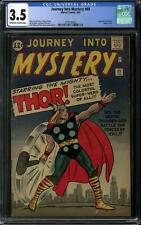 Journey Into Mystery #89 CGC 3.5 (OW-W) Origin of Thor retold. Classic Cover