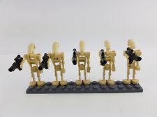 Lego® Star Wars 5 Droiden mit Blaster Waffen Battle Droid Armee Figuren