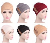Women's Muslim Hijab Cap Stretch Chemo Hat Beanie Turban Head Scarf Headwear New