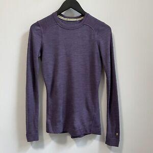 Smartwool Merino Wool Long Sleeve Athletic Top Knit Purple XS