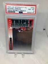 1993 UD International (French) Triple Double #TD2 Michael Jordan PSA 8 (2 graded