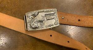 VTG 1959 Mattel Remington Derringer 1867 Metal Toy Pop Cap Gun Belt Buckle