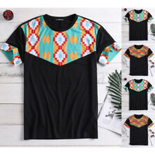 Fashion Men's African Tribal Clothing Dashiki Printing Tops Mexican Tee T-Shirt