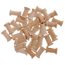 50Pc Wooden Spools Classic Empty Thread Bobbins DIY Sewing Notions 27mmx16mm