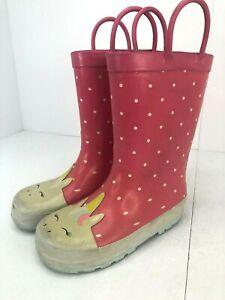 Carters Rain Boots Toddler Girls Size US 11 Unicorn Pink
