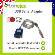 QUALITY USB 9 PIN RS232 SERIAL CONVERTOR CONVERTER FTDI 232RL -  ONE THAT WORKS!