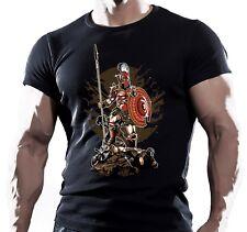 Guerrero Espartano motivación Mens camiseta MMA UFC Muay Thai Lucha Entrenamiento