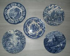 MIX & MATCH blue TOILE transferware dessert salad plate Myott Wood England