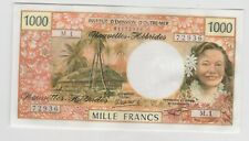 More details for p20c new hebrides 1000 francs 1979 banknote in near mint to mint conditon.