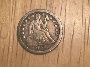 1856 P Seated Liberty Dime Small Date Original