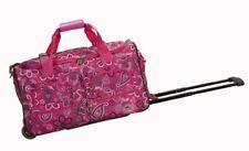 "Rockland 22"" Rolling Duffle Bag PRD322-PINKBANDANA DUFFLE BAG 22"" x 12.5"" x 11"""