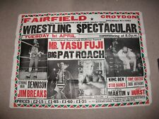 Double sized 1980's British wrestling poster (Bomber Pat Roach, Alan Dennison)