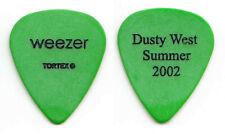 Weezer Dusty West Green Guitar Pick - Summer 2002 Tour