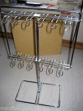 "NEW 3-PAK Counter Chrome Swivel Display 24 hooks, 9.5""h x 8""w SEE 4/8-PAK OPTION"