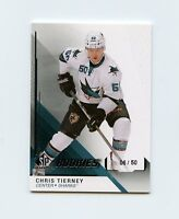 14/15 SP GAME-USED SPGU ROOKIE RC #184 CHRIS TIERNEY 06/50 SHARKS