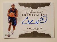 2018-19 Panini Flawless Premium Ink #PI-CWD Charlie Ward AUTO /25 NY Knicks MINT