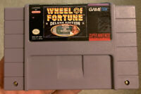 Wheel Of Fortune Deluxe Edition Super Nintendo SNES ~ Tested ~ Authentic