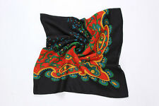 Extra Large Square Viscose Scarf/Shawl Black and Red COT502