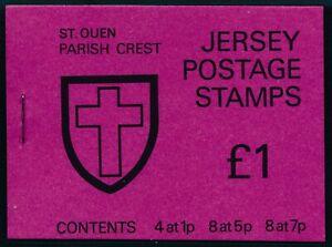 1976 JERSEY ST. OUEN PARISH CREST £1 BOOKLET FINE MINT MNH SB26