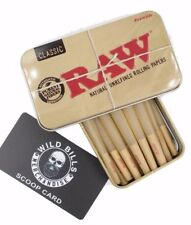 RAW CONES CLASSIC KING SIZE  15 COUNT W SCOOP AND RAW TIN