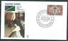 1984 VATICANO VIAGGI DEL PAPA SOLOMON ISLANDS HONIARA - SV