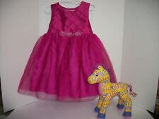 Girl's Size 4 GEORGE Easter, Flower girl, Party Dress, New & FREE Stuffed Horse