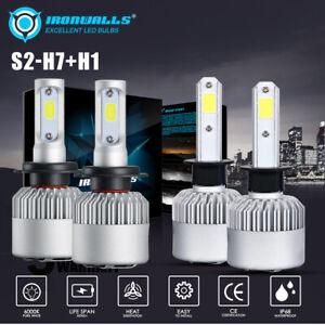 2Pair H1 H7 LED Headlight Bulbs White Globe Kit for Hyundai Elantra Grandeur i30