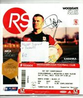 Multi Signed Programme Middlesbrough V Brighton & Hove Albion Plus Ticket