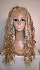 "20"" Custom Colored #60/#10 7A Brazilian Beach Wave 180% Glueless Full Lace Wig"