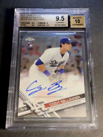 CODY BELLINGER 2017 TOPPS CHROME REFRACTOR #RA-CB AUTO ROOKIE RC BGS 9.5 10