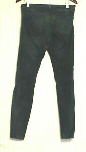 Current/Elliott Suede Leather Green Skinny Pants Size:30