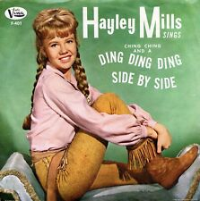"""HAYLEY MILLS """"Ding Ding Ding"""" (45 RPM) 7"""" Vinyl  Record w/ Pic Sleeve MINT"""