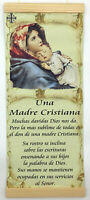 """Una Madre Cristiana Christian Mother Religious Catholic wall hanging print 8x18"""""""