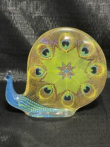 Vtg Abraham Palatnik Lucite Acrylic Peacock Snail Sculpture Figurine Pal Brazil