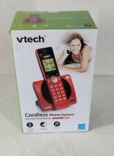 NIB VTech Cordless Phone with Caller ID/Call Waiting - RED