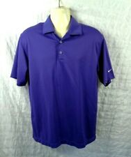 Nike Golf Mens Size LARGE Nike Fit Dry Royal Purple Polo Golf Shirt style 128898