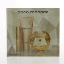 Lady Million 3 Piece Gift Set with 2.7 Oz by Paco Rabanne NEW For Women