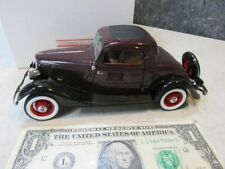1933 Ford Deluxe Coupe Die Cast 1:24 Scale Danbury Mint