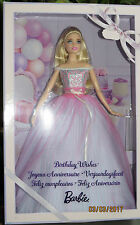 NRFB poupée 2017 BARBIE Birthday wishes Anniversaire DVP49 collection collector